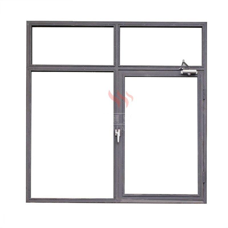 apartment commercial building 2 hours fire resistant steel windows