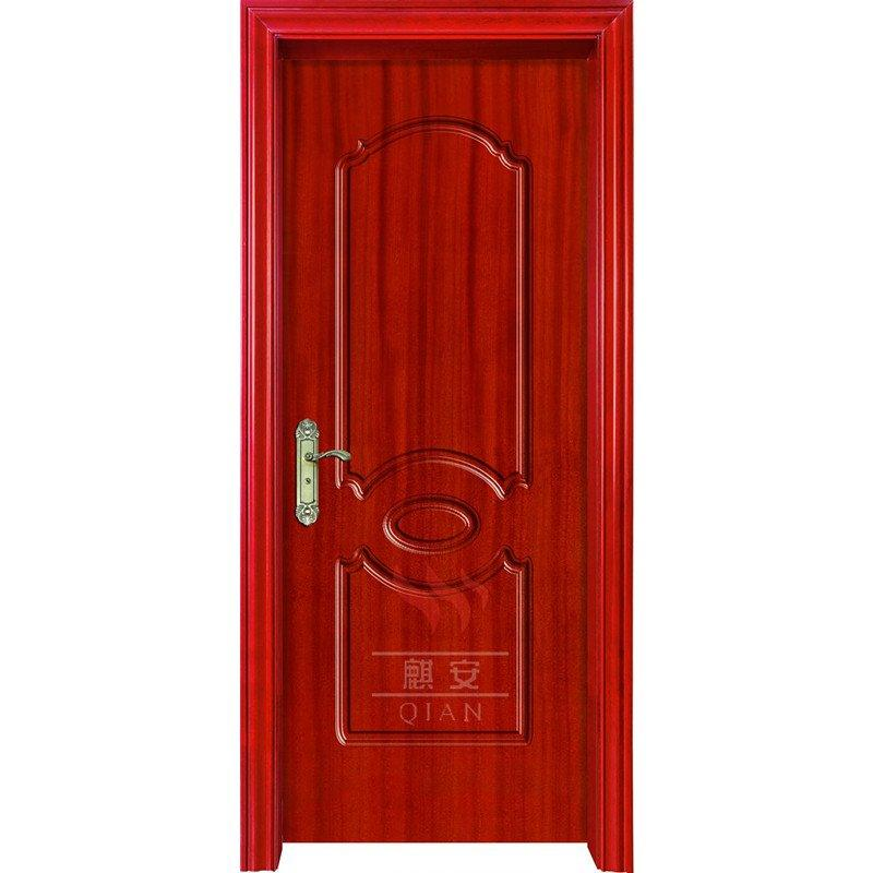 90 minutes white veneer finished EU standards fireproof wooden door for residential