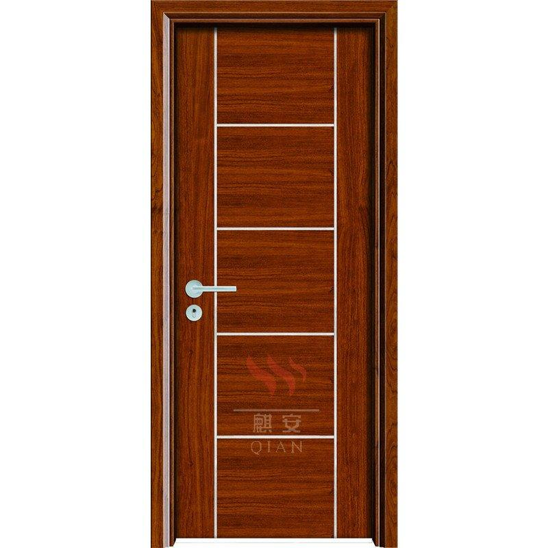 Custom interior solid core fire rated timber 60mins fireproof wood doors modern designs