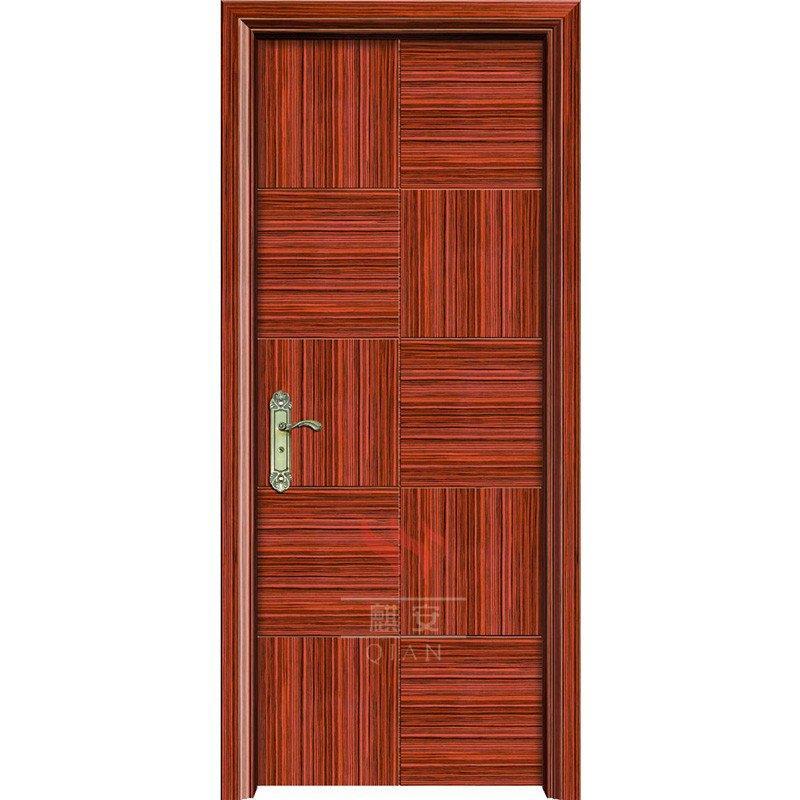 PU painting 90 minutes fire resistant wooden door