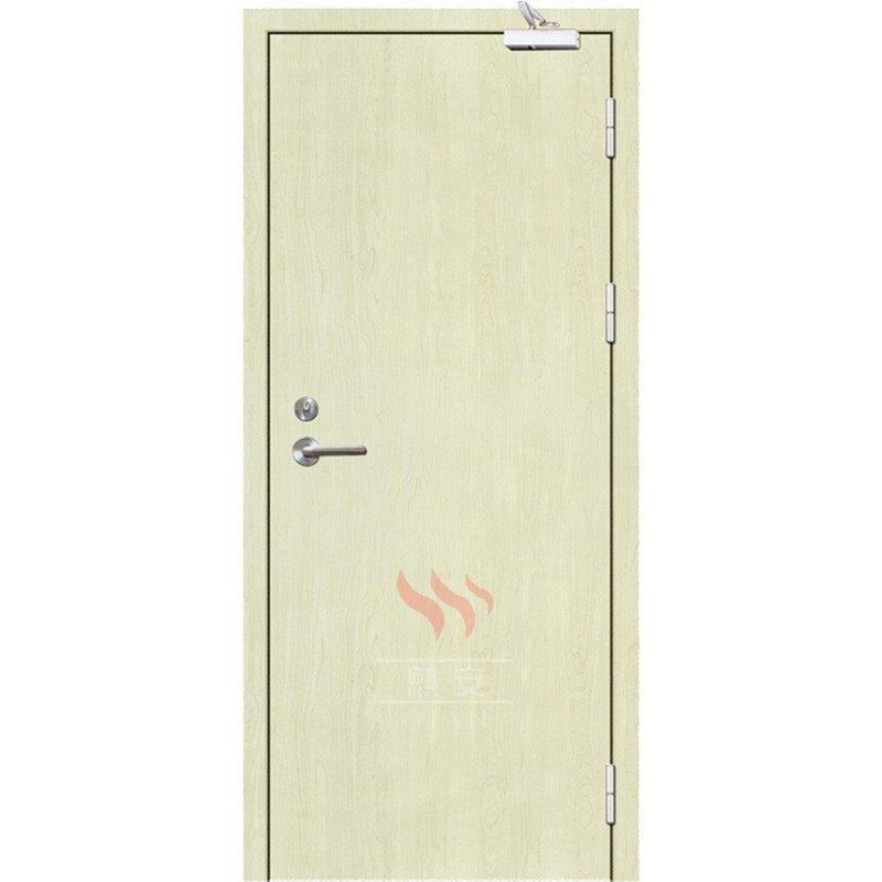 60 minutes painting white color fire resistant wooden swing door with BS certificate