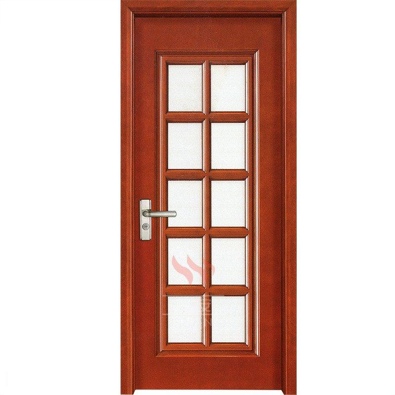 Solid wood 10 panel interior doors with frosted glass inserts