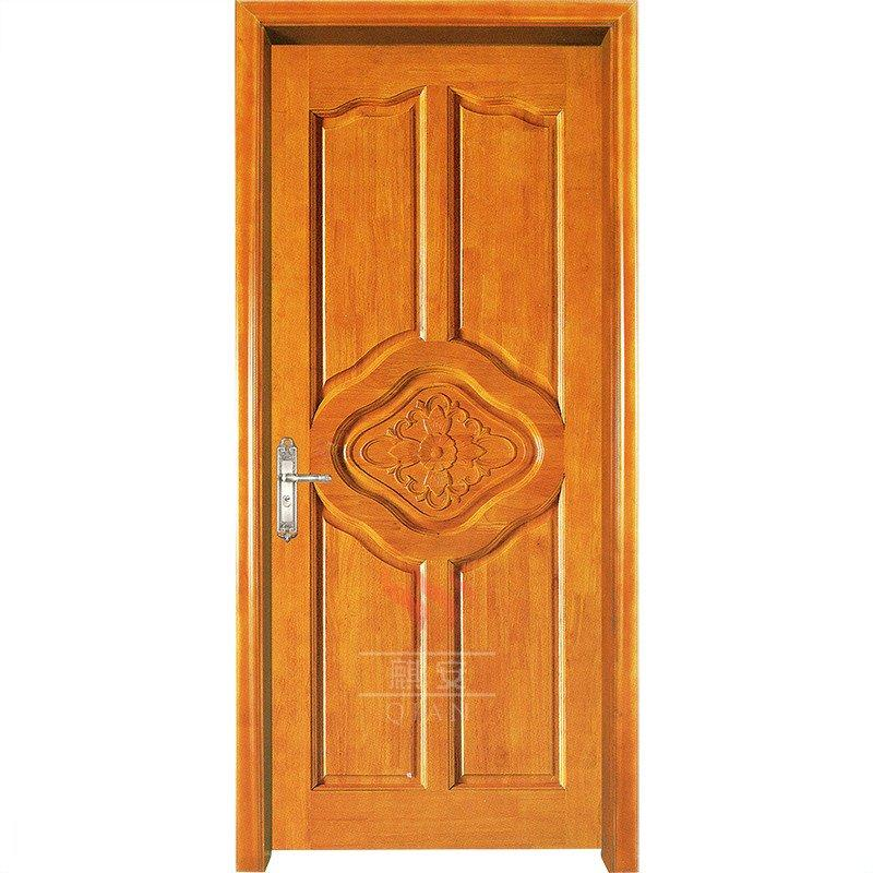 Custom solid cherry wood interior door grain wood timber door for commercial