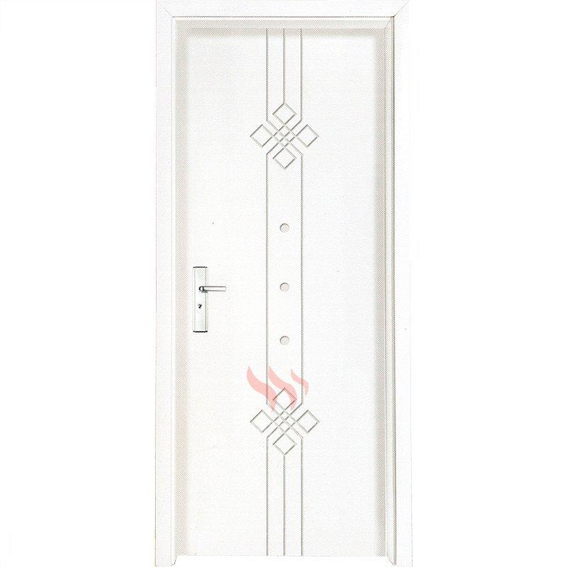 Modern interior doors durable white plain solid wood single door