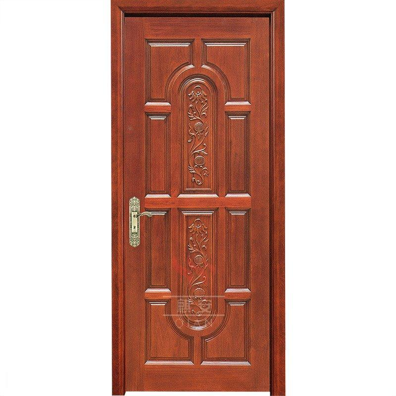 8 panel interior plain solid wood door interior hardwood wooden door