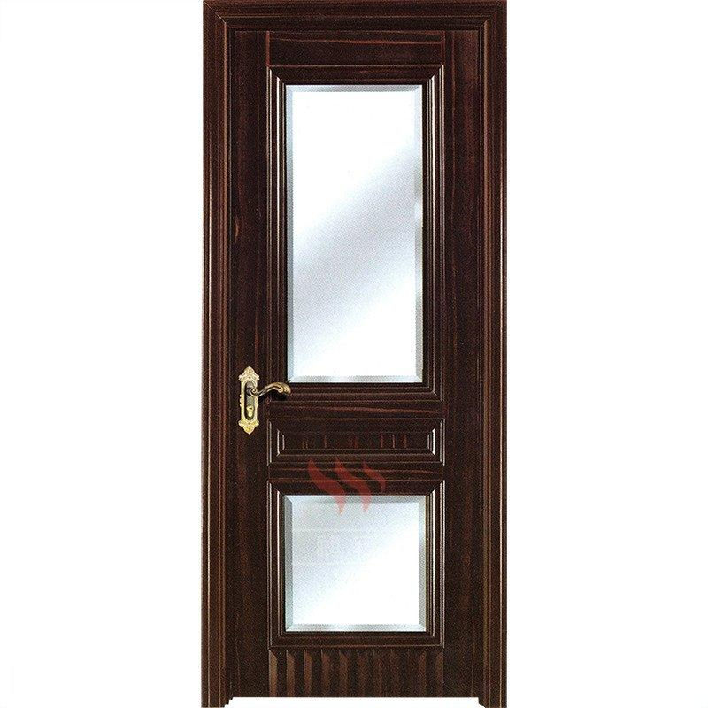 Solid Wood Doors With Frosted Gl