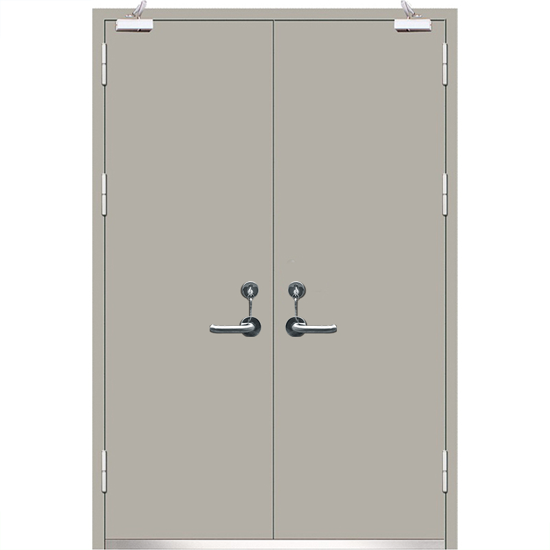Qian-High Quality 2 Hour Fire Rated Vision Panel Galvanized Steel Fire Exit-6
