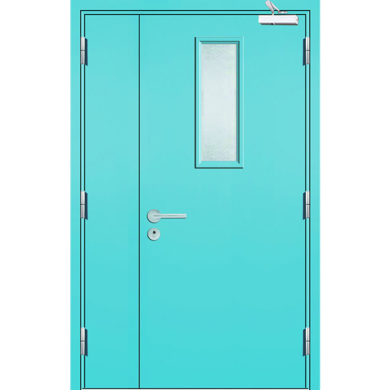 Qian-High Quality 2 Hour Fire Rated Vision Panel Galvanized Steel Fire Exit-10
